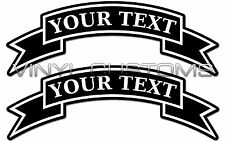 """8"""" Custom Logo Decal Sticker Your Text Here Decal Sticker Banner"""
