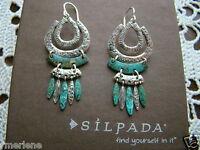 Silpada Sterling Silver Brass elements Earrings W2836
