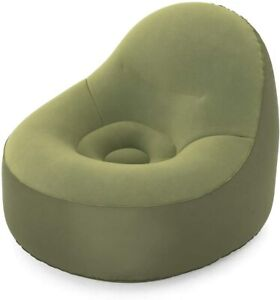 Bestway Fortech Puff Armchair Air Inflatable Green 105x98x76 CM Interior +