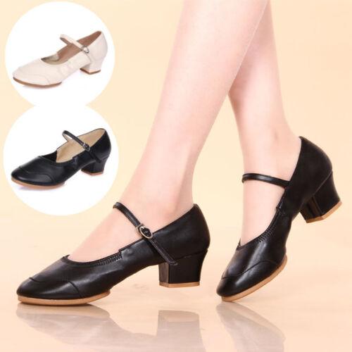 Ladies Salsa Waltz Ballroom Latin Tango Soft Sole Heeled Sandals Dance Shoes New