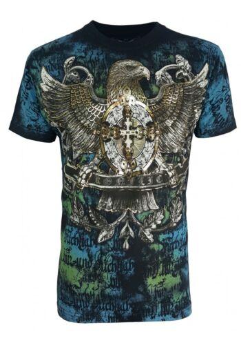 Konflic American Eagle /& Cross UFC MMA Roar Tattoo Biker Motorcycle T Shirt