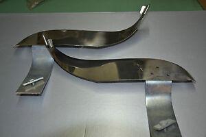 COPPIA PARASPRUZZI ANTERIORI IN ACCIAIO FIAT 850