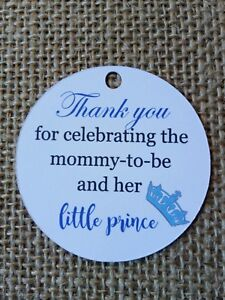 15x Crown Prince Baby Shower Tag Thank you for celebrating the mummy to be Tags