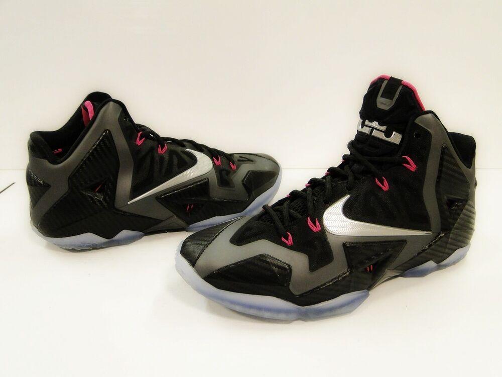 Nike Lebron XI -11 Miami Nights-Blk/Met Argent/Rose Film sport -  Chaussures de sport Film pour hommes et femmes 923ca2
