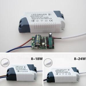 8-12W-12-18W-300mA-Led-Lampara-Techo-Suministro-Electrico-Driver-Transformator