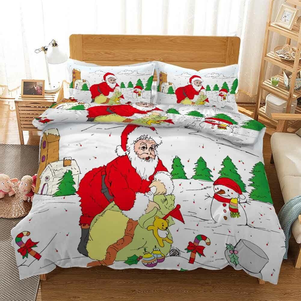 Magic Wand Christmas 3D Drucken Duvet Quilt Will Startseites Pillow Case Bettding Sets
