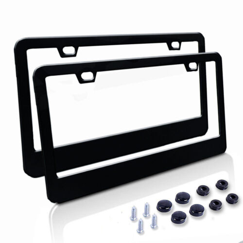 Truck Number License Plate Frame Cover Stainless Steel Holder 2 P For Mitsubishi