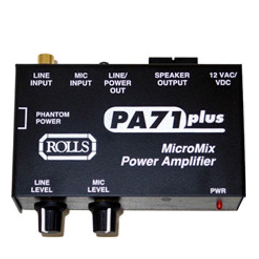Rolls PA71 7-Watt Mono Power Amplifier, 1 Mic, 1 Line