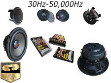 "NIB CDT AUDIO HD-821 LE 3-WAY 8"" HIGH DEF CAR AUDIO COMPONENT SET FREE GIFT LOOK"