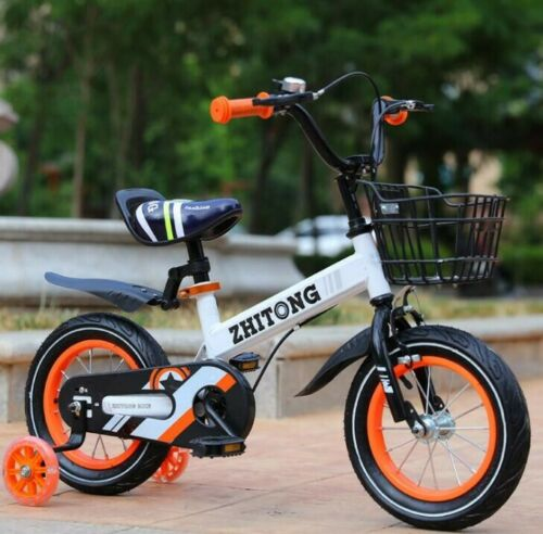 """12/""""-14/""""-16/"""" Kids Toddler Bike Adjustable Children/'s Bicycle with Training Wheels"""