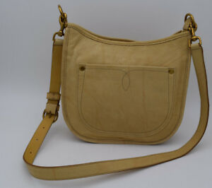 3b5089ede Image is loading NWT-FRYE-Campus-Rivet-Crossbody-Leather-Handbag-Banana-