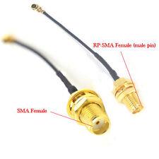 4pcs 2'' Antenna Extension Cable SMA RP-SMA Female to U.fl/ipx Mini-PCI Card 5cm