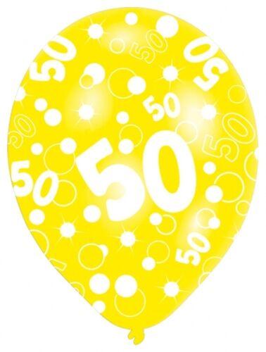 Cumpleaños edad Globos En Colores Variados Helio Calidad edades 18 21 30 40 50 60