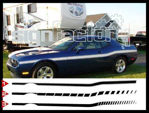 2009 10 11 12 13 2014 2015 Dodge Challenger Retro Decal Stripes RT SRT SCAT PACK