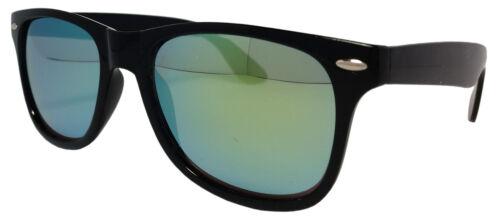 Cadre noir Lunettes de soleil Vert Spectre Lentille Unisexe Hommes Femmes Rétro 100/% UV400