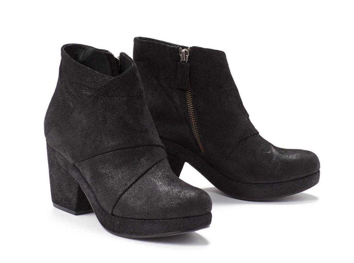 Eileen Fisher Zapatos Botines Plataforma Botín Coaxial De De De Cuero Negro 8.5  300  tomar hasta un 70% de descuento