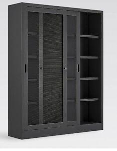 Armadio Metallico Ufficio.Dettagli Su Armadio Metallico Per Ufficio Con Porte A Reti Metalliche Profondita 60 Cm