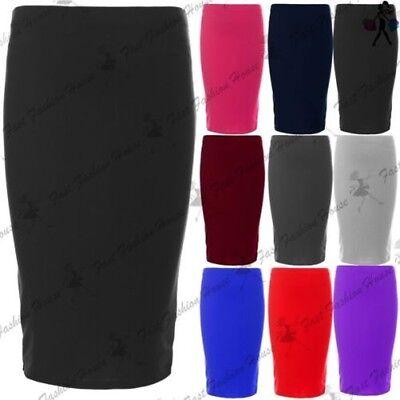 GroßZüGig Kinder Mädchen Einfarbig Elastischer Bund Schule Kleidung Party Midi Skater Rock