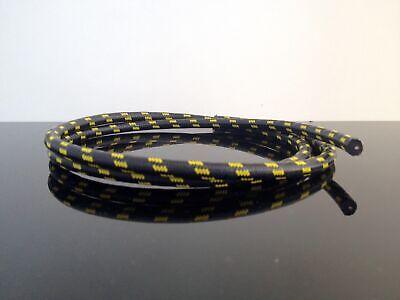 Retro Textil Zündkabel schwarz//rot Ignition Wire Cable Black Câble d/'allumage 1m