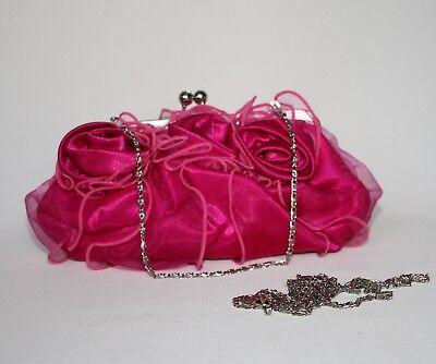 Clutch Pink Abendtasche Handtasche Brauttasche Party Tasche Umhängetasche