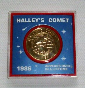 USA Edition Bronze Medal - Halley´s Comet - last appearance 1986 - UNC - Sealed