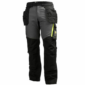 mens helly hansen workwear aker cons multi pocket trousers black pants 77401 ebay. Black Bedroom Furniture Sets. Home Design Ideas