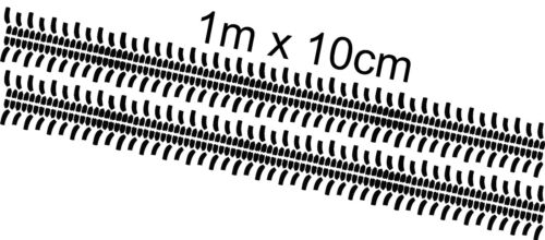 2m Tyre Tracks Treads 4x4 Stickers Graphic Off road Jeep Land Rover Vitara Wall
