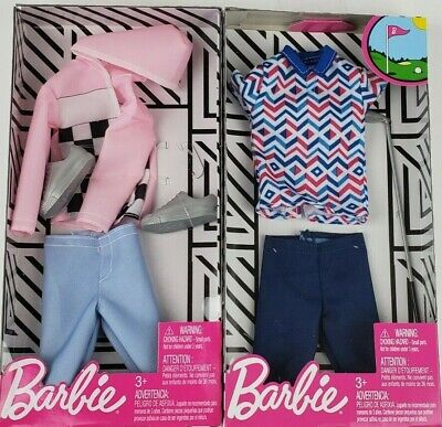 Barbie Ken Fashion Jacket /& Pants /& Pizza Chef outfit clothing packs lot of 2