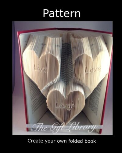 Bride Groom Rings Live love laugh  Wedding PATTERNS create your own folded book