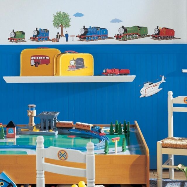 Wall Sticker 27 Pc Thomas The Tank Friends Helicopter Children Room Decor New