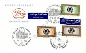 FDC-Cavallino-Repubblica-2004-Posta-Prioritaria-3-valori-Annullo-tematico