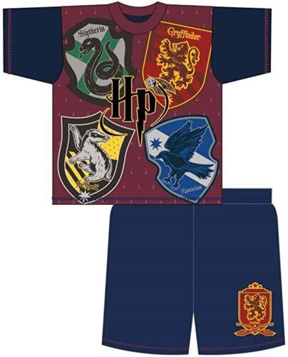 Harry Potter Childrens//Kids House Crests Short Pyjama Set 5 to 11 years