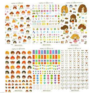 Everyday Boy&Girl Sticker Diary Planner Book Scrapbook Cute Decor Index Label