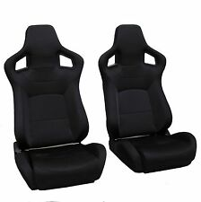 Black SVX style reclining bucket style seats Land Rover Defender Interior 90 110