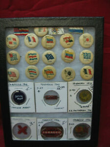 Vintage-Collection-of-1890-039-s-Sweet-Caporal-Cigarette-Pins-amp-Tobacco-Pin-Backs