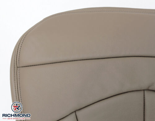 Driver Side Bottom Replacement Leather Seat Cover TAN 2000 Ford F-150 Lariat