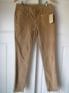 db2c2ea2febb9  150 MICHAEL MICHAEL KORS 4 Khaki Corduroy Zipper Pockets Skinny ...