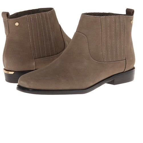 d2be24ca78f Bass Womens Leather Gored Ankle Booties Grey Sizes 6 6.5 8 9 10 M ...