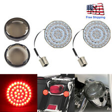 2 Bullet Style 1156 Red Rear Led Light Turn Signal Inserts For Harley Davidson