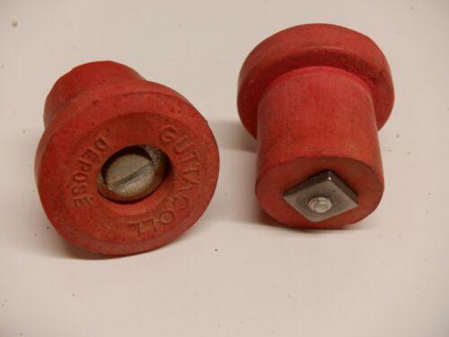 "NOS Velox /""Guttacoll/"" branded Handlebar Plugs Vintage 1960/'s Red"