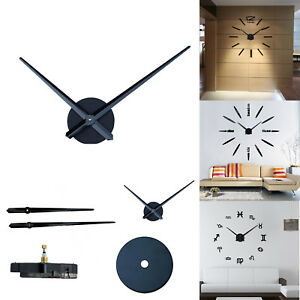 Large Silent Quartz Wall Clock Movement Diy Hands
