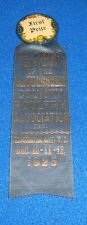Vintage 1925 Gloucester New Jersey First Prize County Fair Ribbon