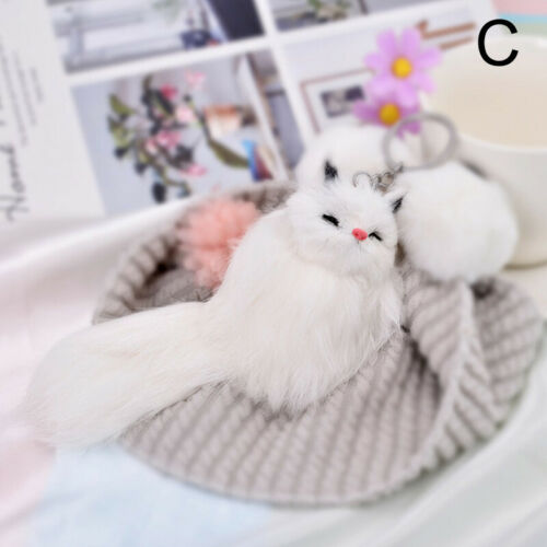 Keyring Soft Fluffy Faux Fur Animal HandBag Pendant Charm Pompom Keychain Cute