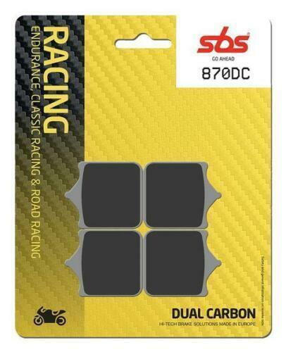SBS Street Racing Dual Carbon Front Brake Pads 870DC
