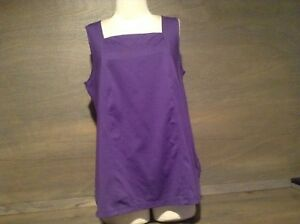 Lane-Bryant-Womens-Size-14-16-Sleeveless-Blouse-Top-Solid-Purple-NYLON-SPANDEX