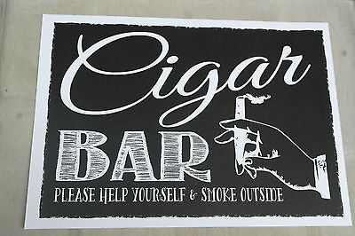 CIGAR BAR sign POSTER vintage chalk chalkboard style WEDDING PARTY ENGAGEMENT