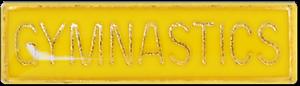 Gymnastics Bar Pin Badge in Yellow Enamel