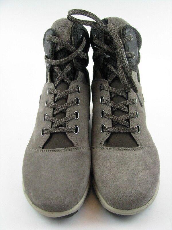 Geox Damen Schuhe Ankle Stiefel Grau zum Schnüren Gr. 37