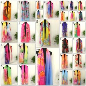Vintage-Elegant-Wrap-Spring-Silk-Chiffon-Butterfly-Scarf-Rose-Printed-Long-Shawl