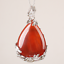Natural Quartz Crystal Stone Waterdrop Flower Healing Gemstone Pendant Necklace